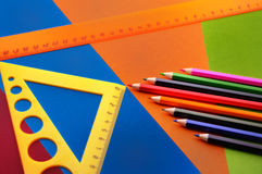 Bleistifte und Tabellierprogramme Lizenzfreies Stockbild