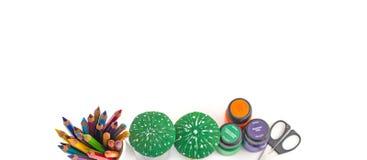 Bleistifte und Tinten für Kreativität Stockfotos