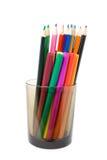 Bleistifte und weich-spitzen in einem Glas Stockfoto