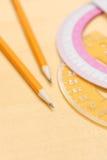 Bleistifte und Winkelmesser Stockfotografie
