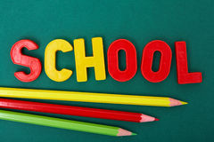 Bleistifte und Zeichen Lizenzfreies Stockbild