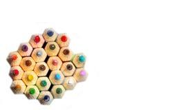 Bleistifte von der Spitze Lizenzfreie Stockfotografie