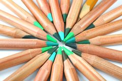 Bleistifte von grünen Schatten Lizenzfreies Stockfoto