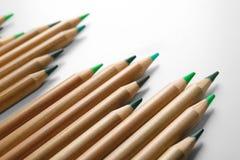 Bleistifte von grünen Schatten Lizenzfreie Stockbilder