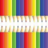 Bleistifte von sechs Blumen - nahtlose Beschaffenheit Lizenzfreies Stockbild