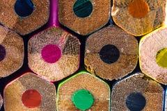 Bleistifte ziehen sich zurück Stockfotografie