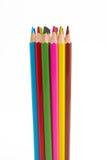 Bleistifte zusammen auf weißem Hintergrund Lizenzfreies Stockbild