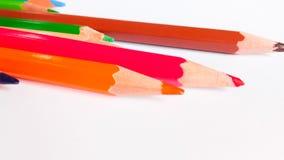 Bleistiftfarbe auf Hintergrund Stockfoto