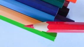 Bleistiftfarbe auf Hintergrund Lizenzfreies Stockbild