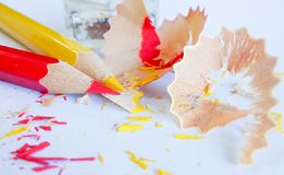 Bleistiftfarbe auf Hintergrund Lizenzfreie Stockfotografie