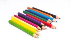 Bleistiftfarbe auf weißem Hintergrund Stockfoto