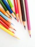 Bleistiftfarbe auf weißem Hintergrundisolat Lizenzfreie Stockfotografie
