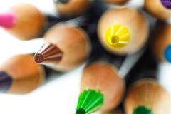 Bleistiftfarbe mit Blase Stockbild