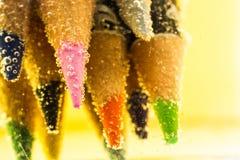 Bleistiftfarbe mit Blase Lizenzfreie Stockbilder