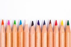 Bleistiftfarben Stockfotos