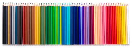 Bleistiftfarbisolat Lizenzfreies Stockfoto