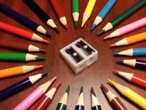 Bleistiftfarbkunst Stockfotos