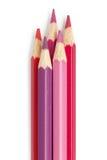 Bleistiftfarbpinkfarbenes rotes Rosa Stockbild