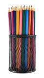 Bleistifthalter voll von Bleistiften Lizenzfreie Stockfotografie
