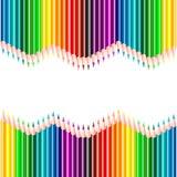 Bleistifthintergrund in den Spektrumfarben lizenzfreie abbildung
