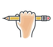 Bleistiftikonendesign Lizenzfreies Stockfoto