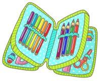 Bleistiftkasten lizenzfreie abbildung
