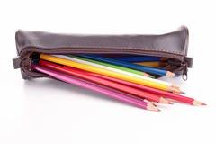 Bleistiftkasten lokalisiert Lizenzfreie Stockfotos