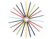 Bleistiftkreis Stockbilder