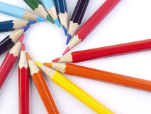 Bleistiftkreis Stockfotografie