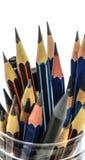 Bleistiftmakrofotoisolat auf weißem Hintergrund Stockfotografie