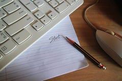 Bleistiftmitteilung Stockfoto