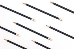 Bleistiftmuster auf weißem Hintergrund Lizenzfreie Stockfotografie