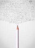 Bleistiftnahaufnahme mit Diagrammen Lizenzfreies Stockfoto