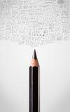 Bleistiftnahaufnahme mit Diagrammen Lizenzfreie Stockfotografie