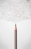 Bleistiftnahaufnahme mit Diagrammen Stockbilder