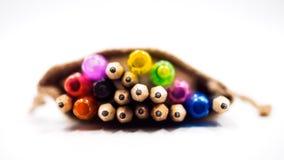Bleistiftnahaufnahme mit weißem Hintergrund stockfoto