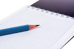 Bleistiftnotizbuch Stockbild