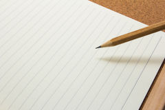Bleistiftpapier Lizenzfreie Stockbilder