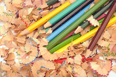 Bleistiftrasuren Stockfotografie