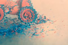 Bleistiftschnitzel-Tintenmuster Stockfoto