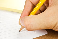 Bleistiftschreiben Lizenzfreie Stockbilder