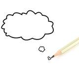Bleistiftschreiben Markengespräch Lizenzfreies Stockfoto