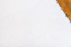 Bleistiftskizze für Batikmalerei Stockfotos