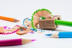 Bleistiftspitzend Stockfotografie
