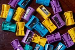 Bleistiftspitzer bunt Lizenzfreie Stockbilder