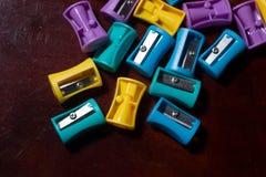 Bleistiftspitzer bunt Lizenzfreie Stockfotografie