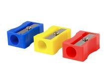 Bleistiftspitzer drei Lizenzfreie Stockbilder