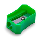 Bleistiftspitzer-Grün Lizenzfreies Stockfoto