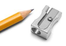 Bleistiftspitzer und Bleistift Lizenzfreie Stockbilder