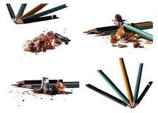 Bleistiftspitzer und Bleistifte Lizenzfreies Stockbild